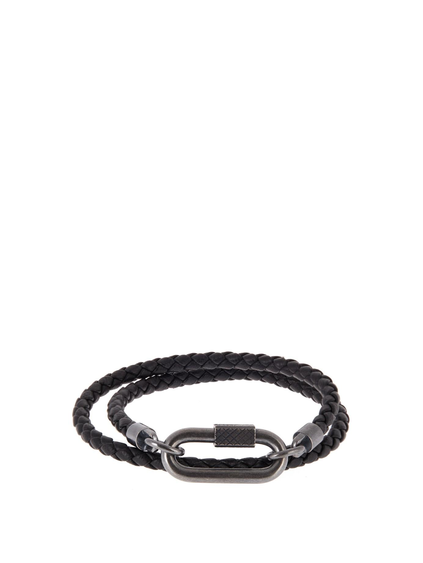 14704d3091835 Bottega Veneta Intrecciato Leather Double-row Wrap Bracelets ...