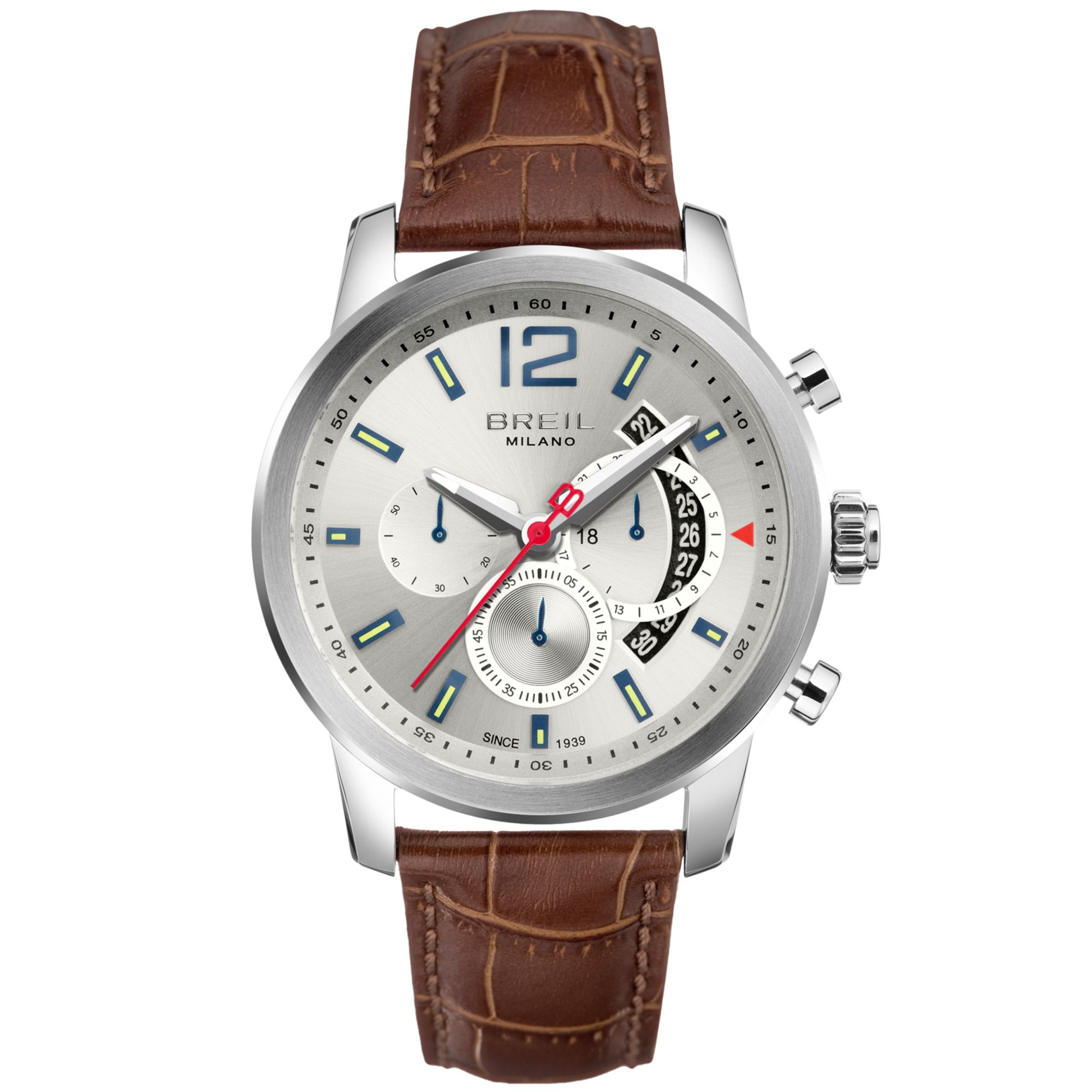 breil stainless steel chronograph watch in brown for men lyst gallery