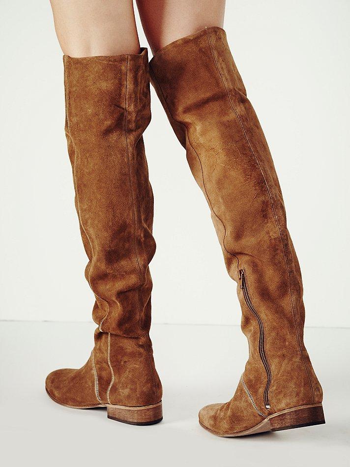 Lyst Free People Grandeur Over The Knee Boot In Brown