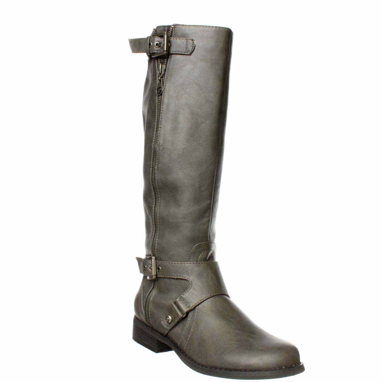 guess g by hertlez wide calf knee high boot in gray lyst