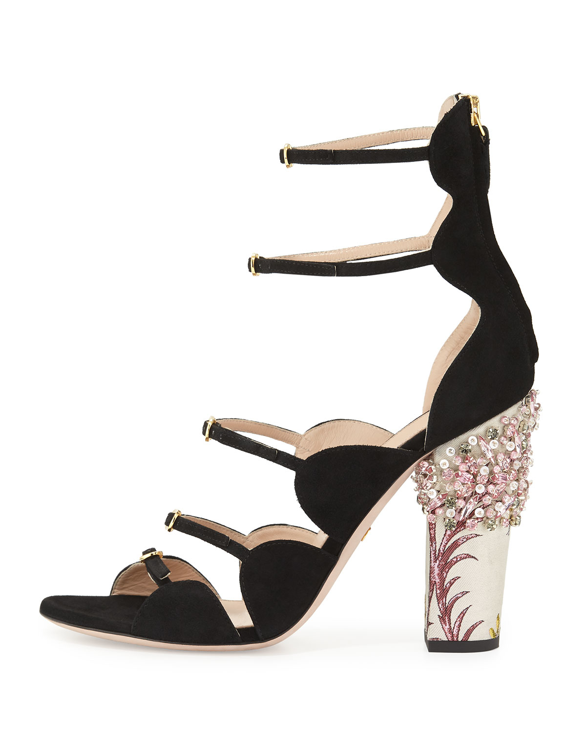 cheap best place Giambattista Valli Embellished Ankle Strap Sandals clearance big sale D9Uysbke1