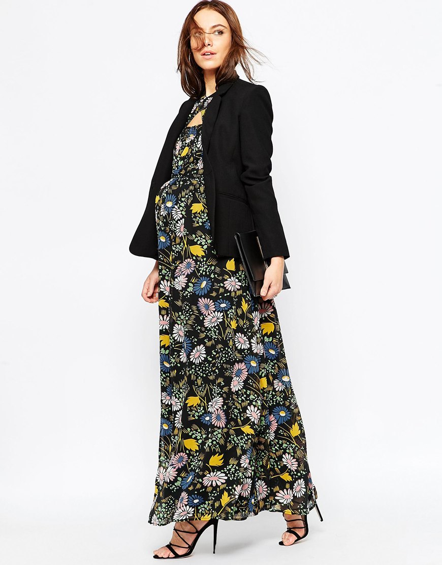 Asos Maxi Dress In Winter Floral  Lyst