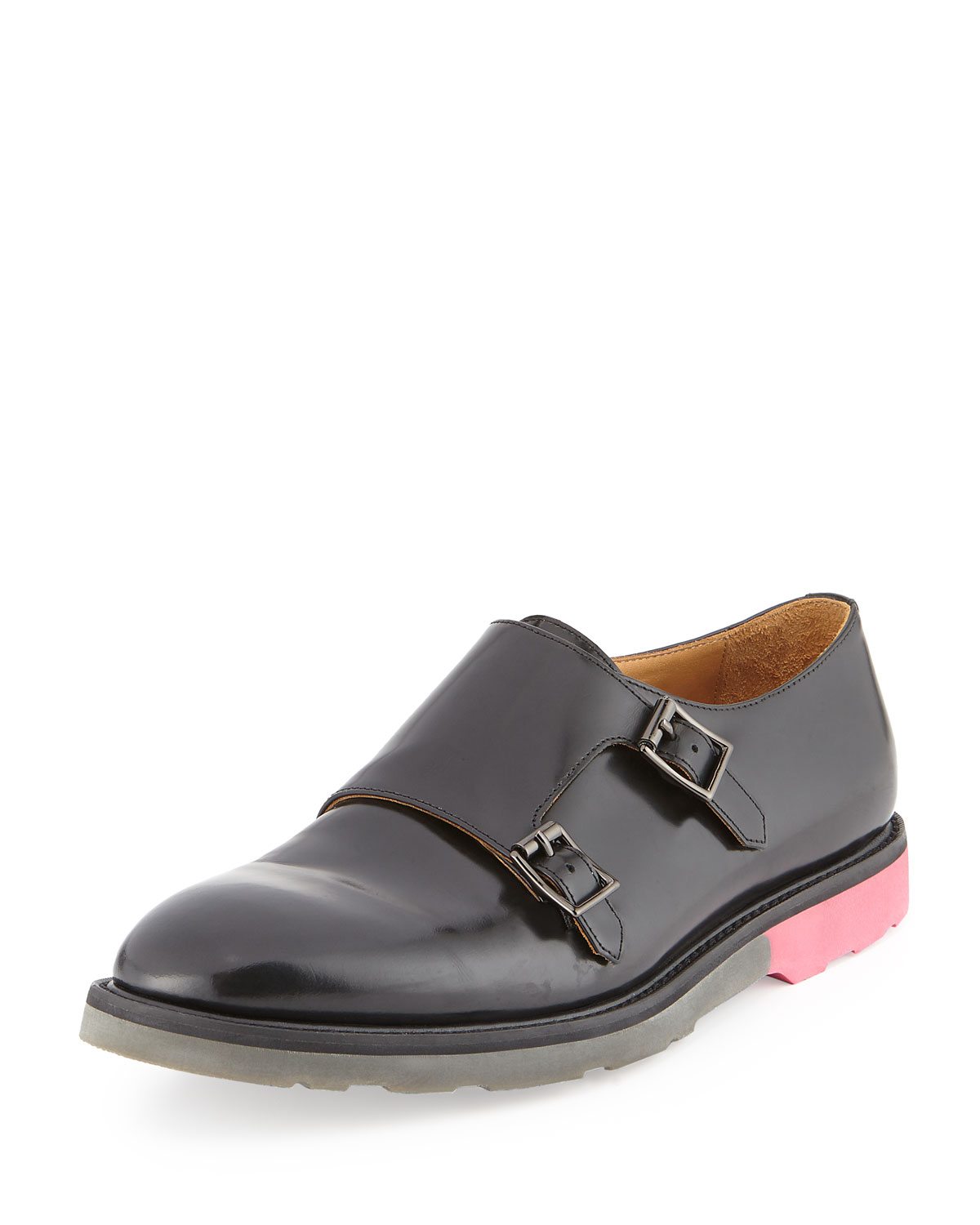 d08fd690755 Lyst - Paul Smith Pitt Monk Strap Leather Loafer in Black for Men