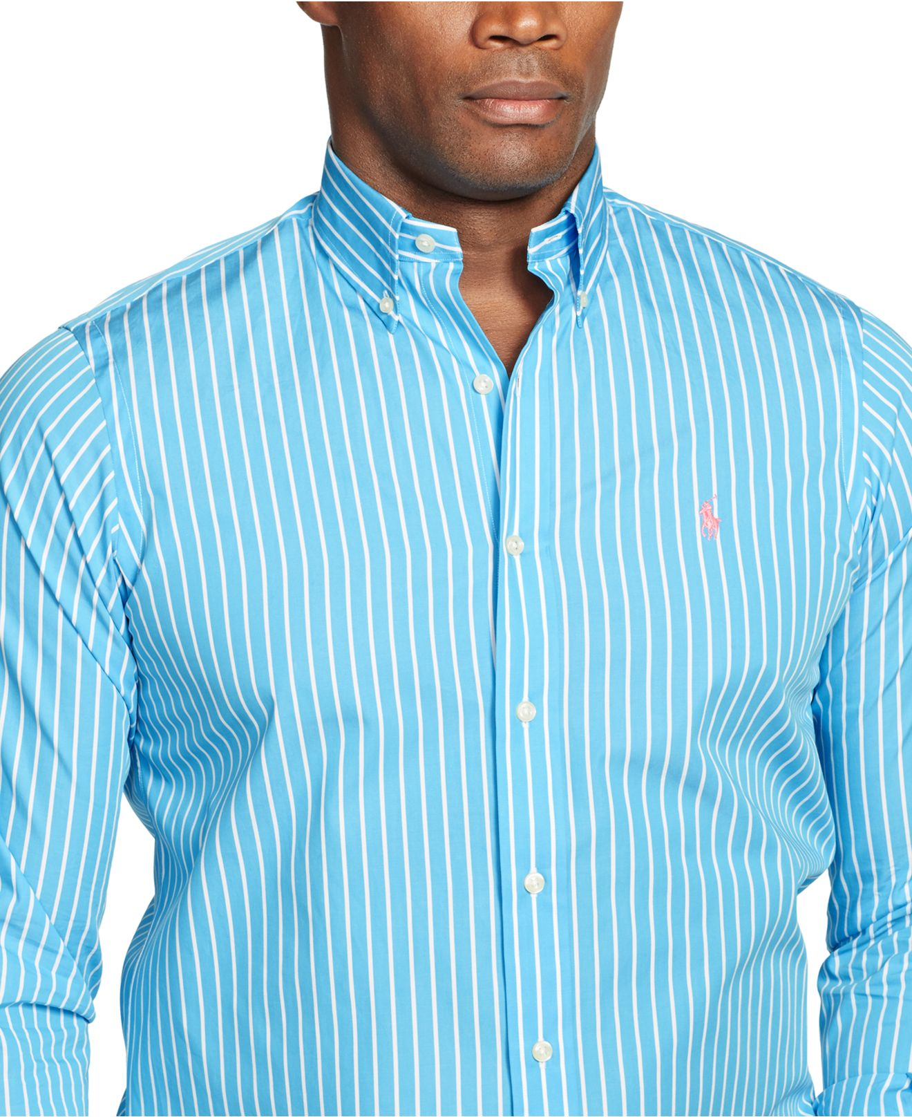 Ralph lauren striped t shirt mens tall mens ralph lauren for Big and tall long sleeve shirts