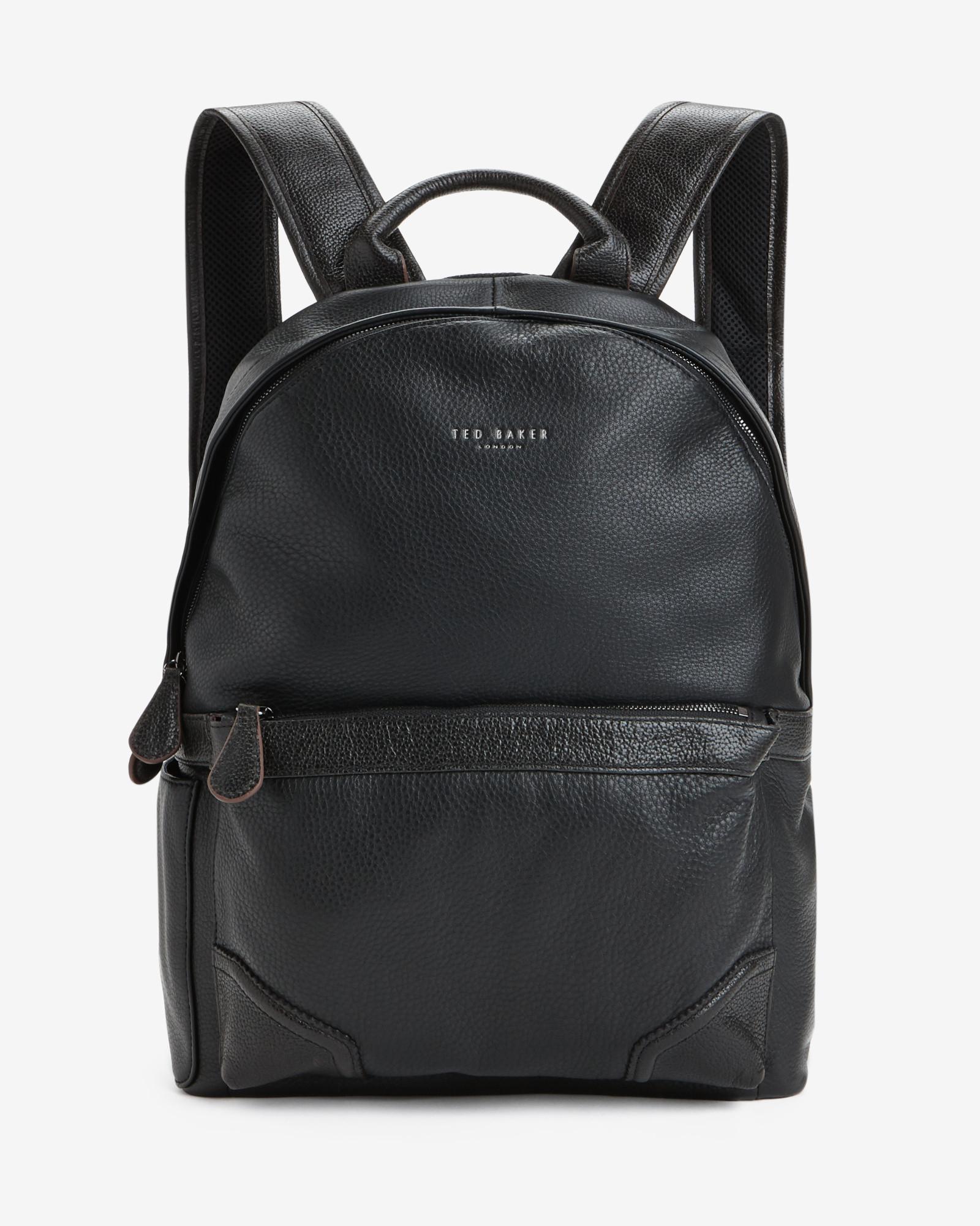 ted baker contrast corner backpack bag in black for men lyst. Black Bedroom Furniture Sets. Home Design Ideas