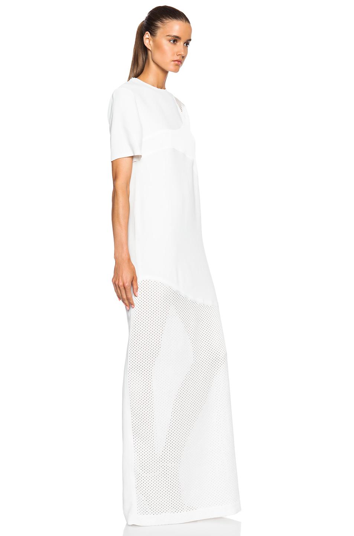 Laser Cut Welded T Shirt Maxi Dress