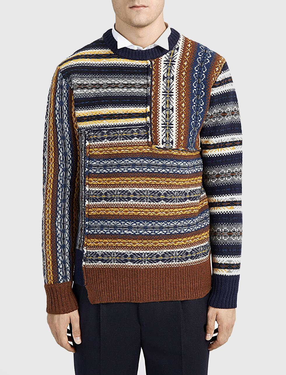 Lyst Joseph Fair Isle Wool Sweater For Men