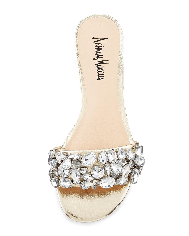 Crystal Leather Sandal