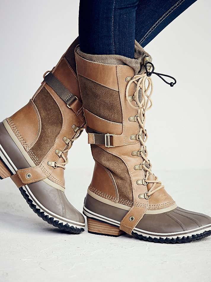 Free People Conquest Carly Leather and Suede Boots in ...