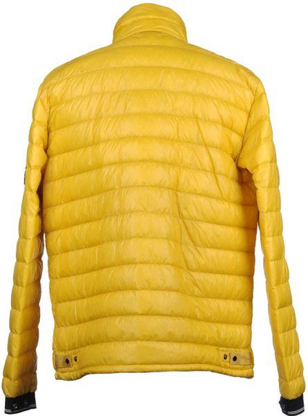 Stone Island Zipper Puffer Down Jacket In Yellow For Men