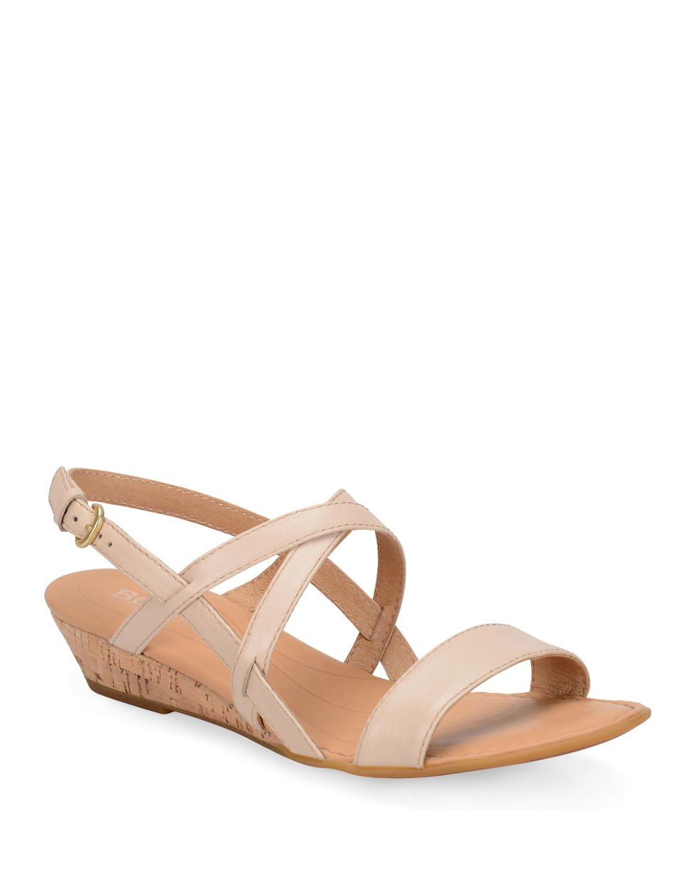 born porta leather wedge sandals in lyst