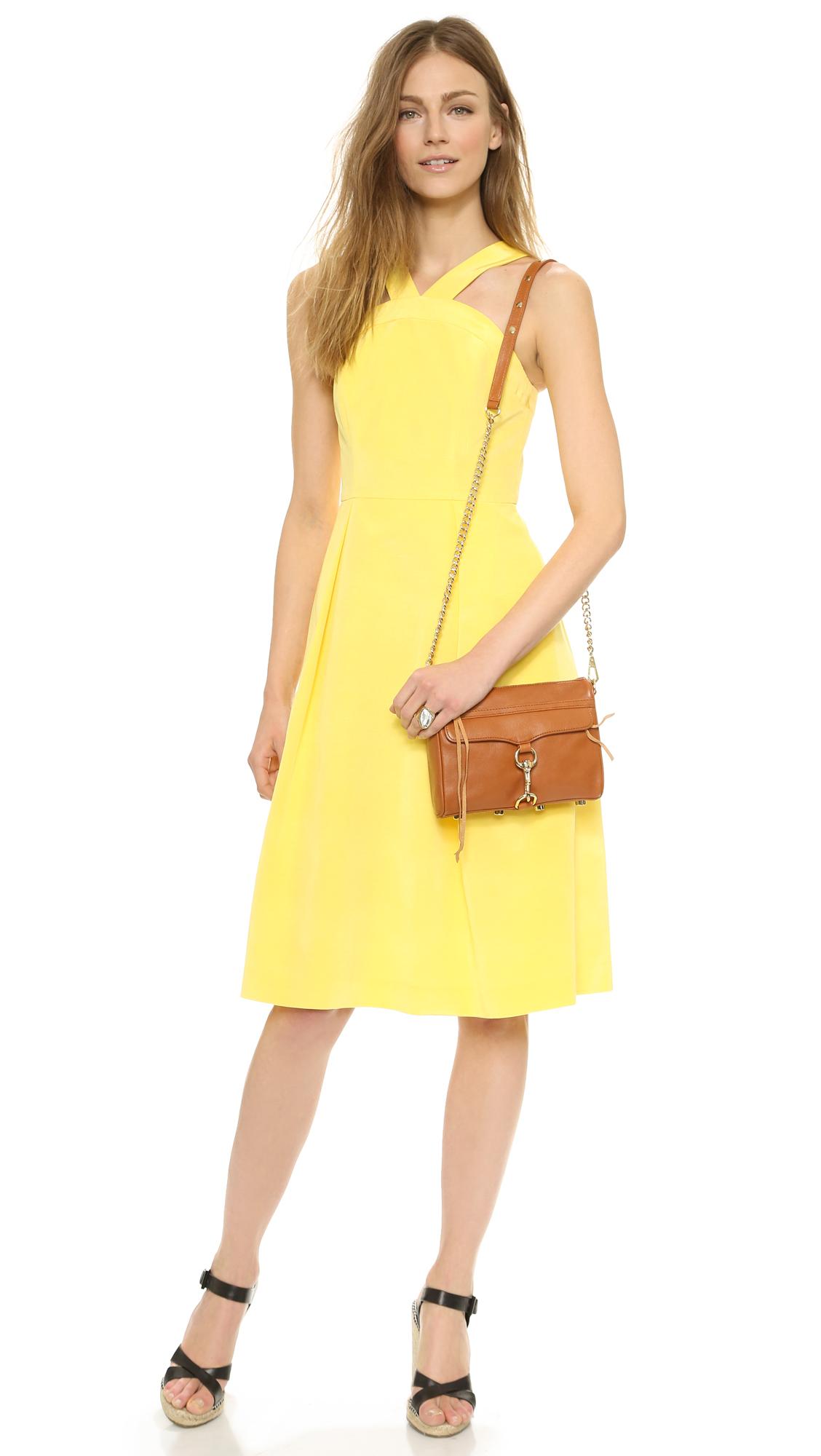 Rebecca minkoff Mini Mac Bag in Brown (Almond) | Lyst