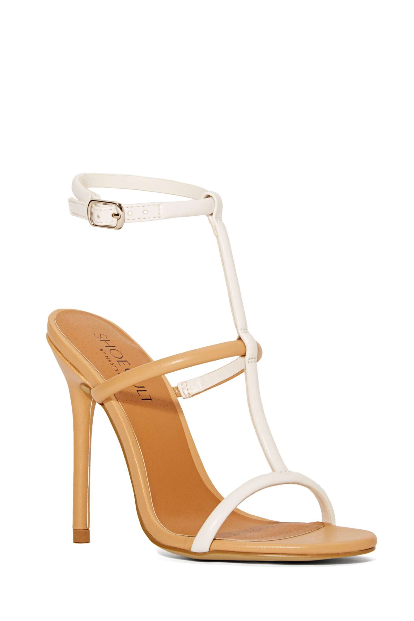 Nasty Gal Shoe Cult Flux Sandal - Nudewhite In Natural  Lyst-6177