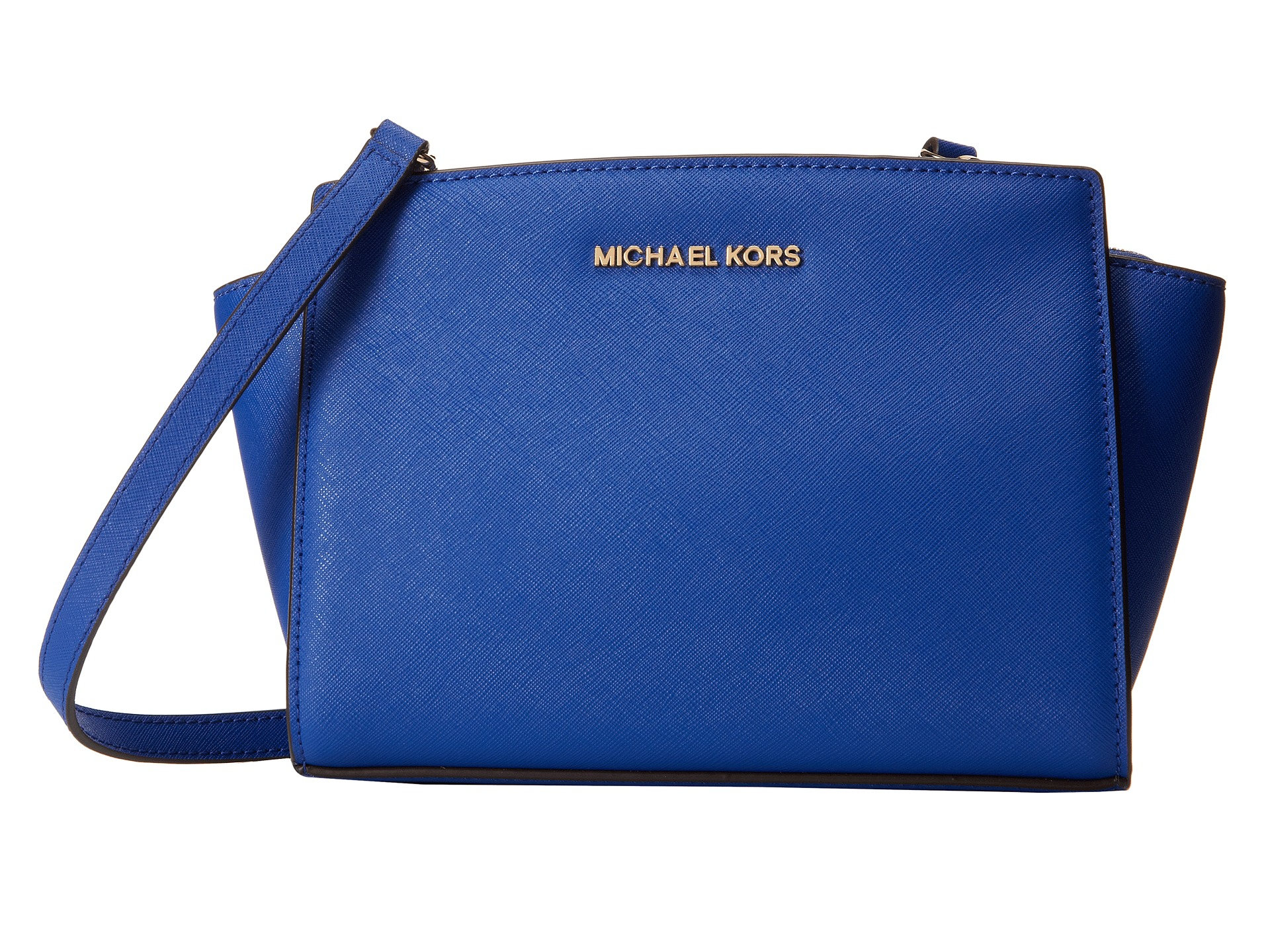 ... cheapest lyst michael michael kors medium selma messenger in blue 3bb40  cf838 6c2cf0f3832be
