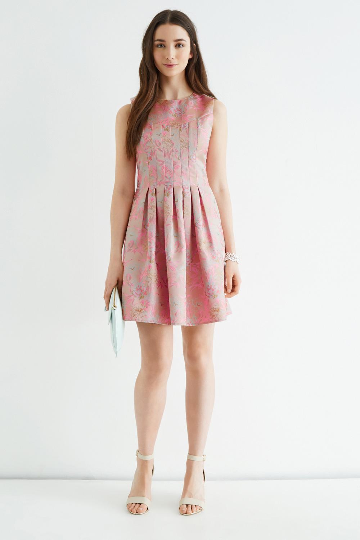 0a49987b7276 Oasis Hollie Oriental Jacquard Dress - Lyst