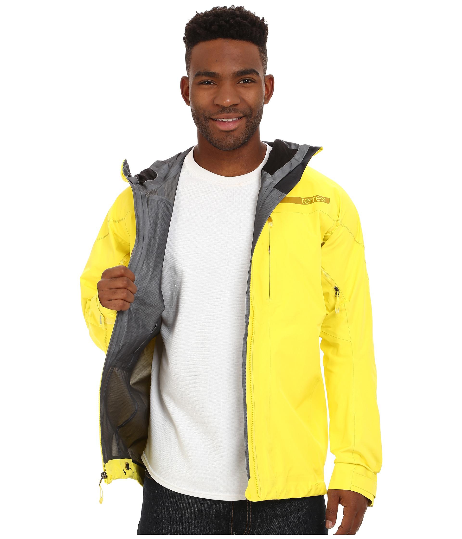 Adidas Yellow Terrex Techrock Gtx Jacket for men