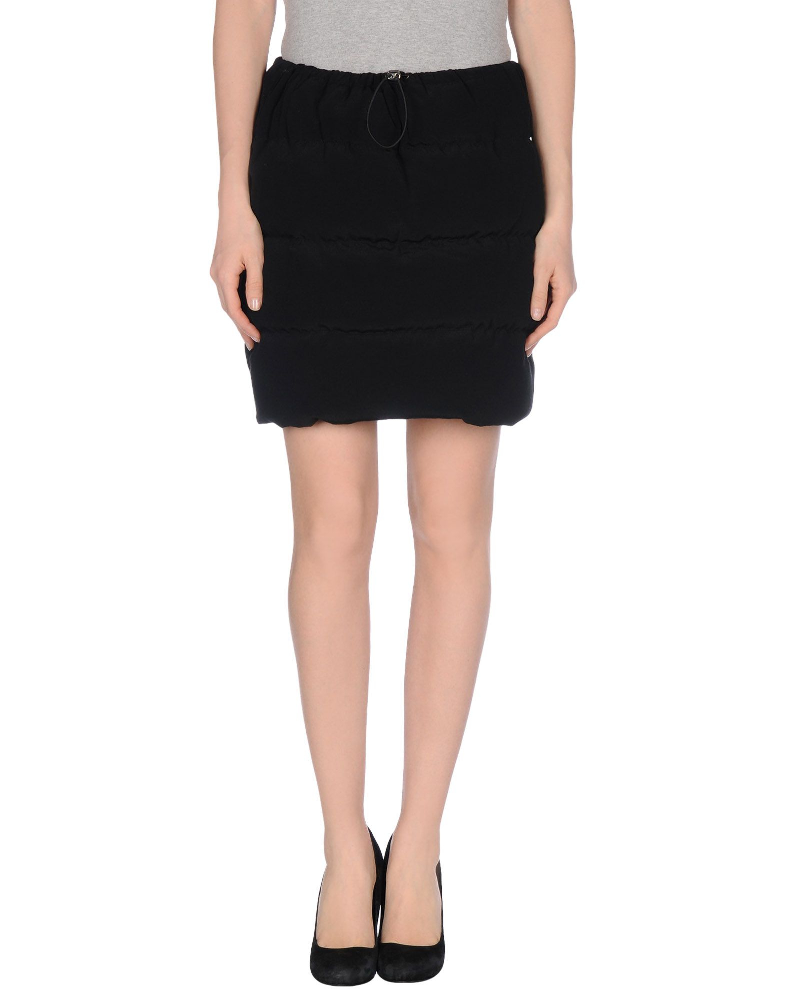 mauro gasperi knee length skirt in black lyst