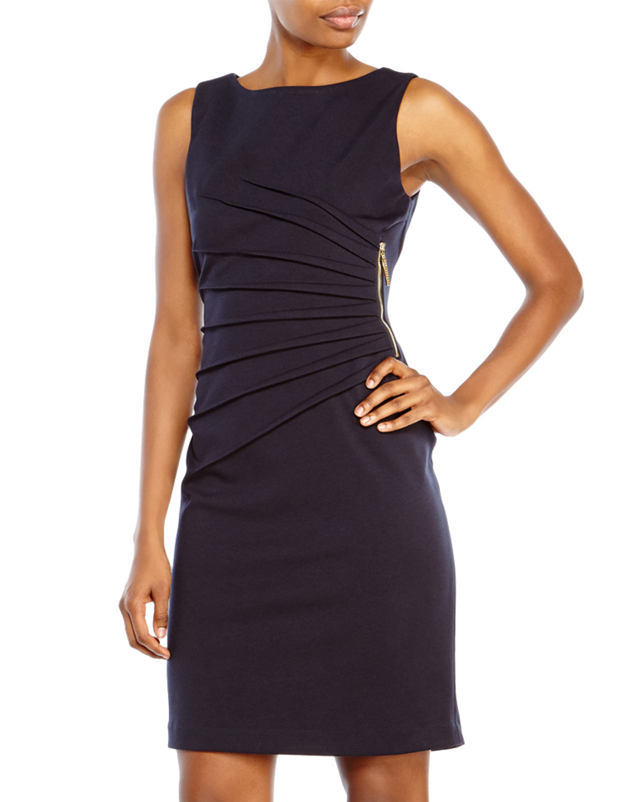 9d36dddc Ivanka Trump Starburst Ponte Sheath Dress in Blue - Lyst