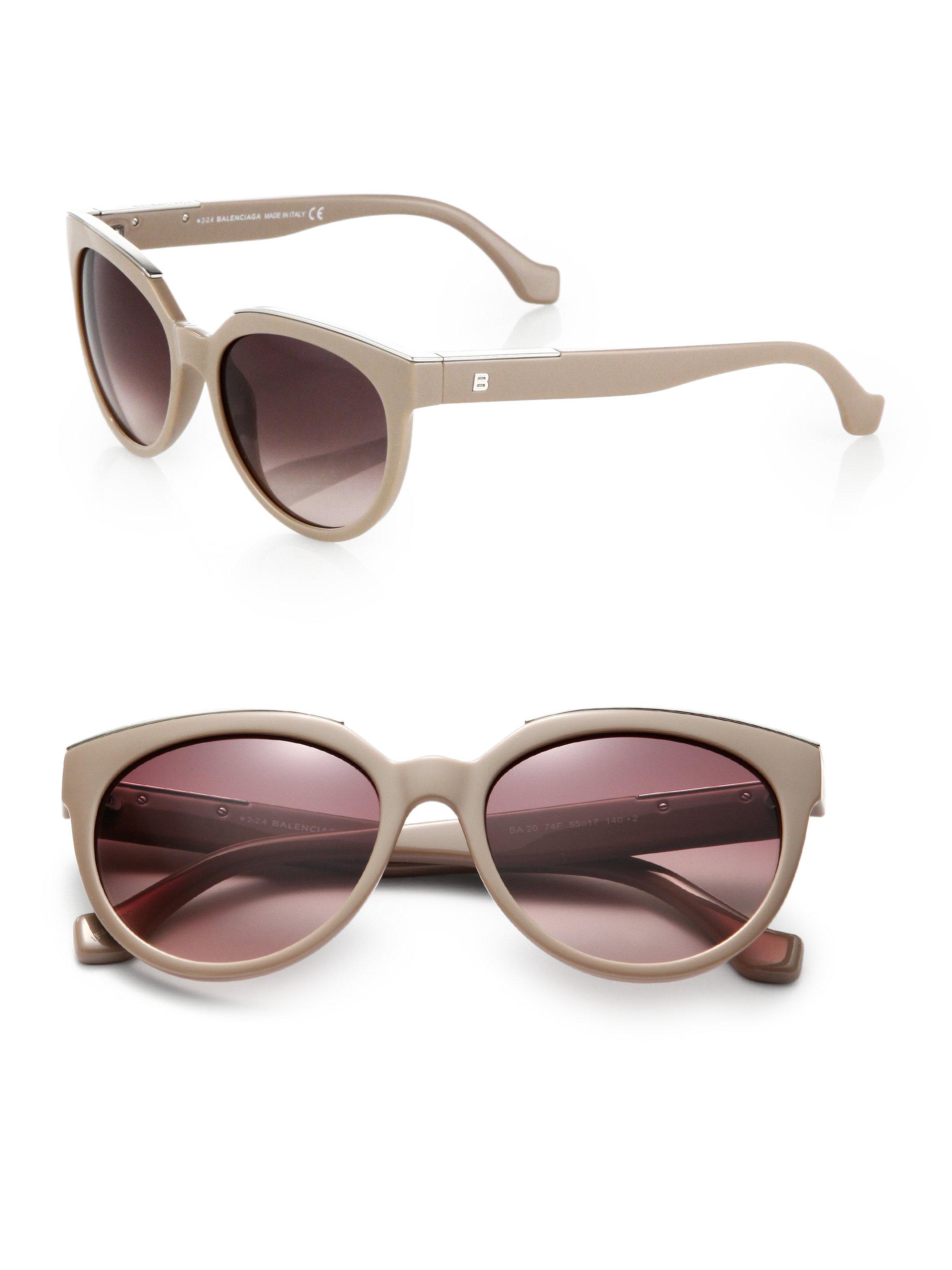 aa8fa847a98 Lyst balenciaga metal trimmed cats eye sunglasses in natural jpg 2000x2667 Cat  eye metal