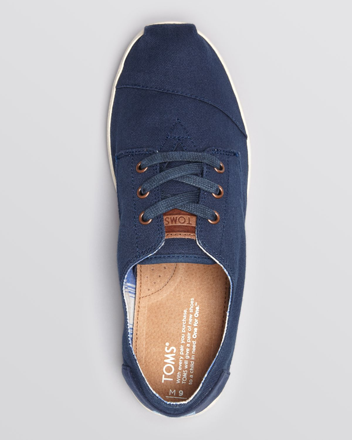 TOMS Paseo Canvas Lace-Up Sneakers in