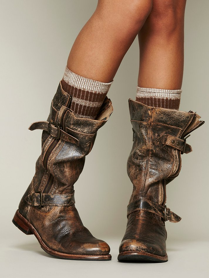 free people cafe racer boot in brown | lyst