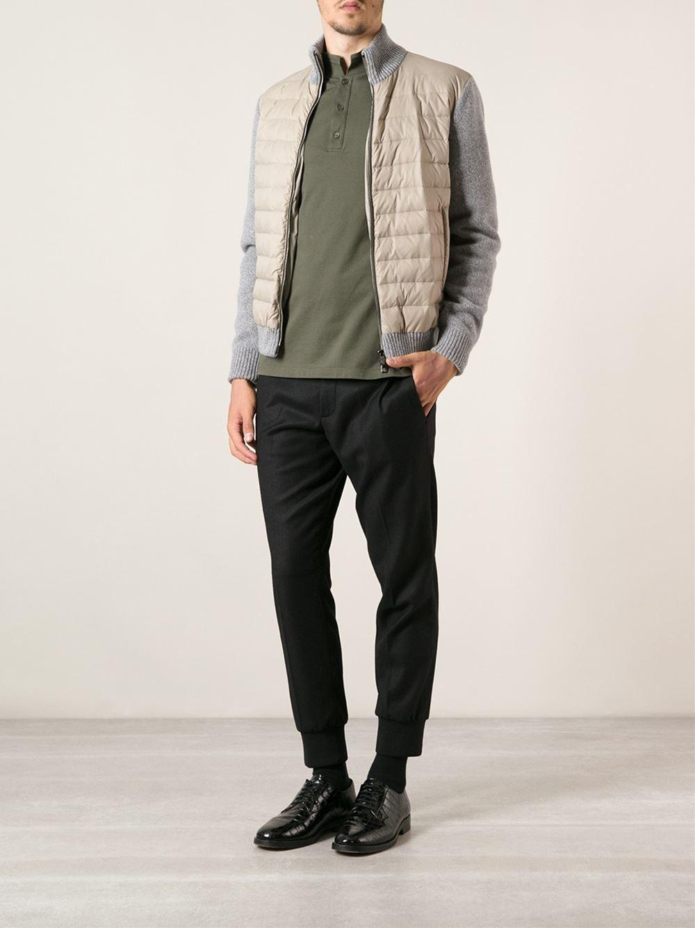 Corneliani Padded Bomber Jacket in Grey for Men