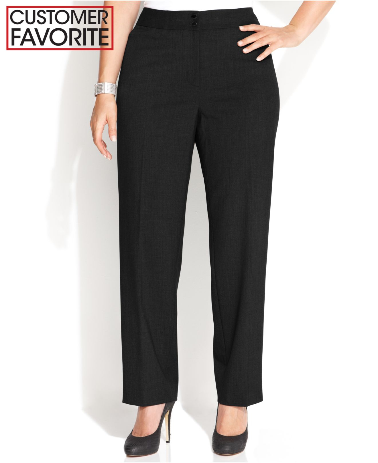 Plus Size Dress Black Pants 55