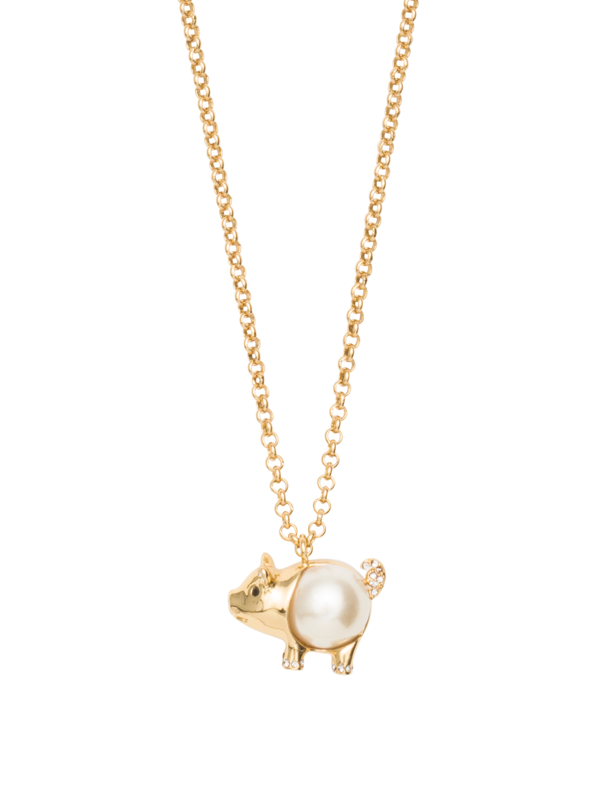 Lyst kate spade new york zodiac spirit animals pig pendant in gallery mozeypictures Gallery