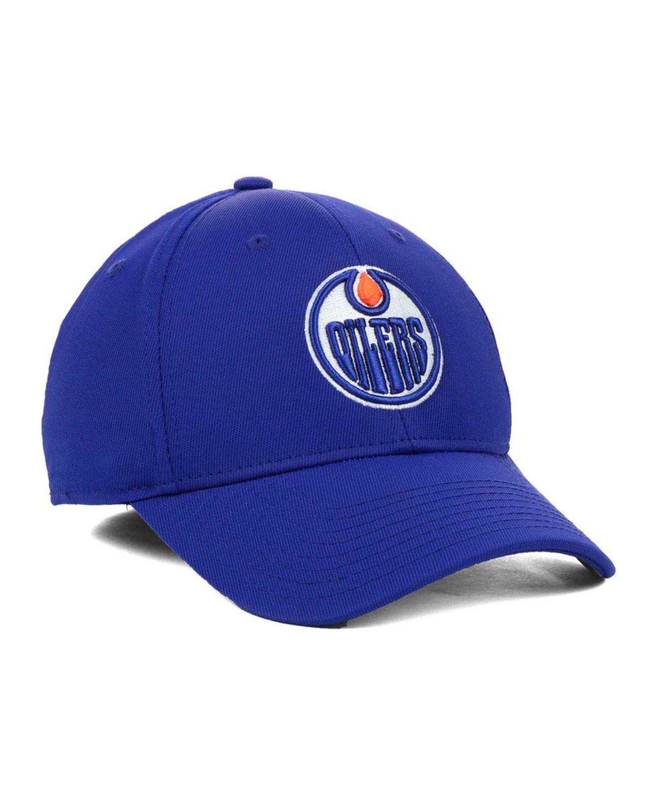 Reebok Edmonton Oilers Hat Trick Cap In Navy Blue For Men Lyst