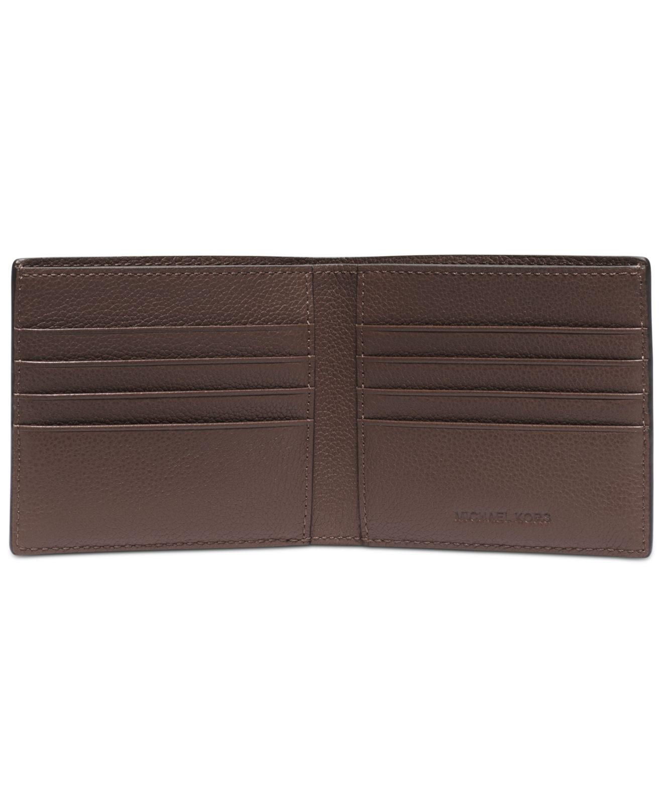 bf1a62f042bdf Lyst - Michael Kors Jet Set Cavallo Pebble Billfold Wallet in Brown ...