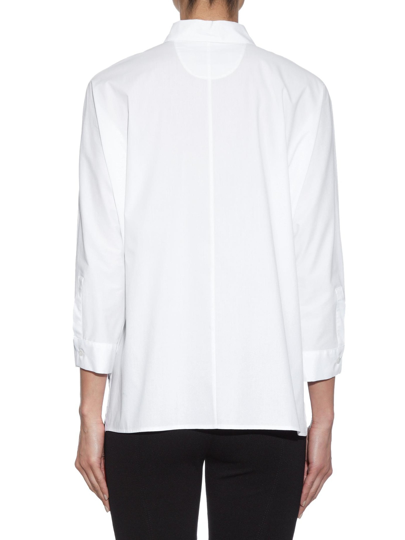 weekend by maxmara kassel shirt in white lyst. Black Bedroom Furniture Sets. Home Design Ideas