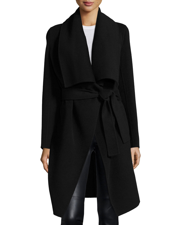 donna karan double face cashmere clutch coat in black lyst. Black Bedroom Furniture Sets. Home Design Ideas