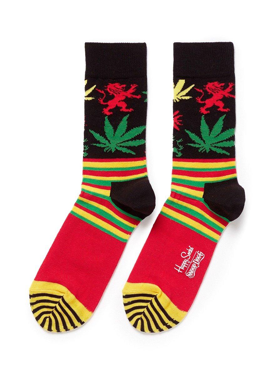 Happy Socks Snoop Dogg Plant And Stripe Socks Lyst