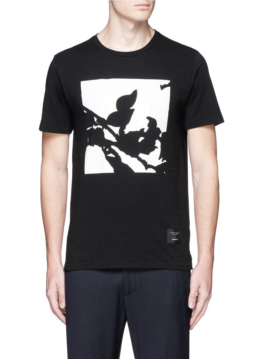Rag Bone X Liberty Floral Print T Shirt In Black For Men