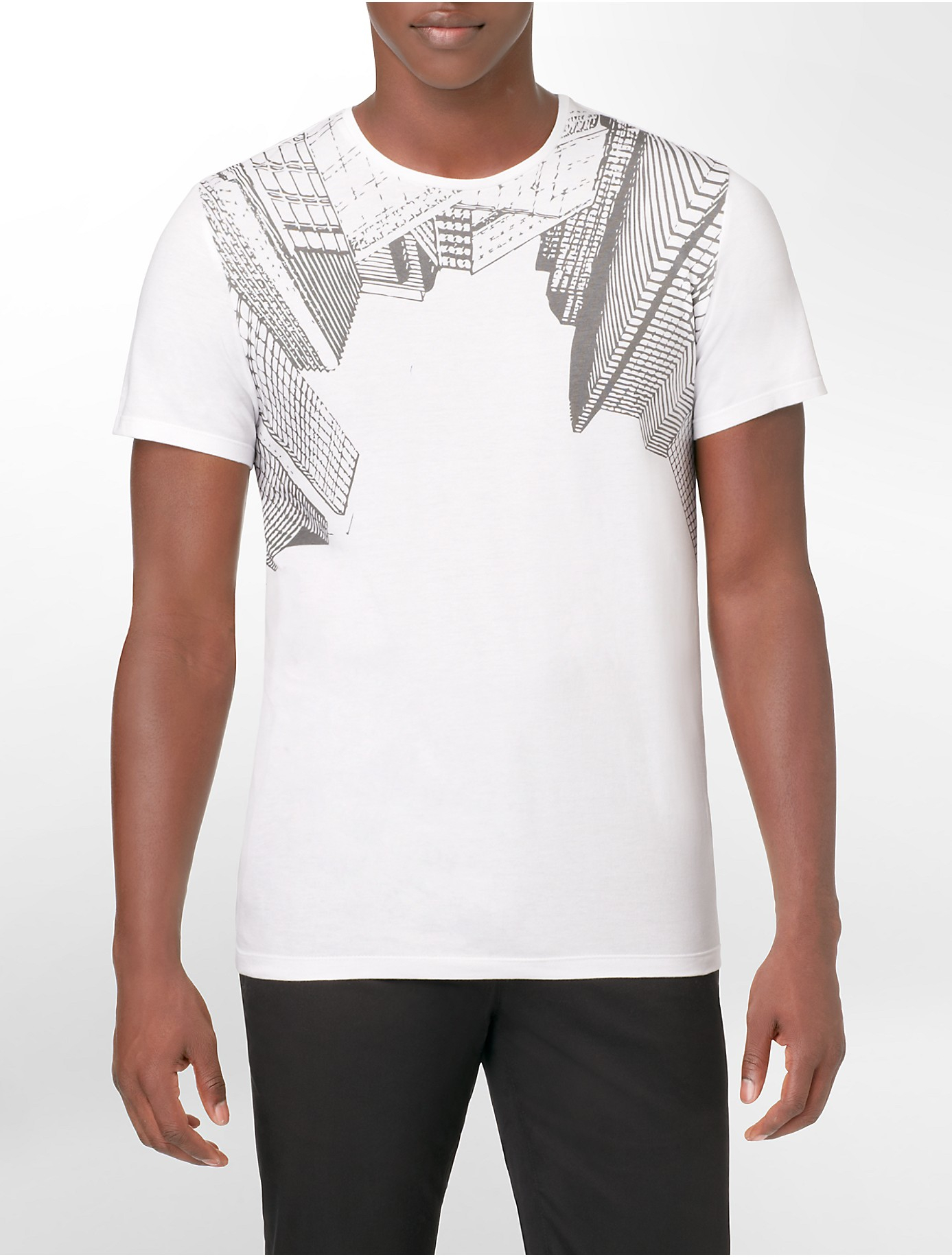 Calvin Klein White Label Ck One Slim Fit Abstract Building