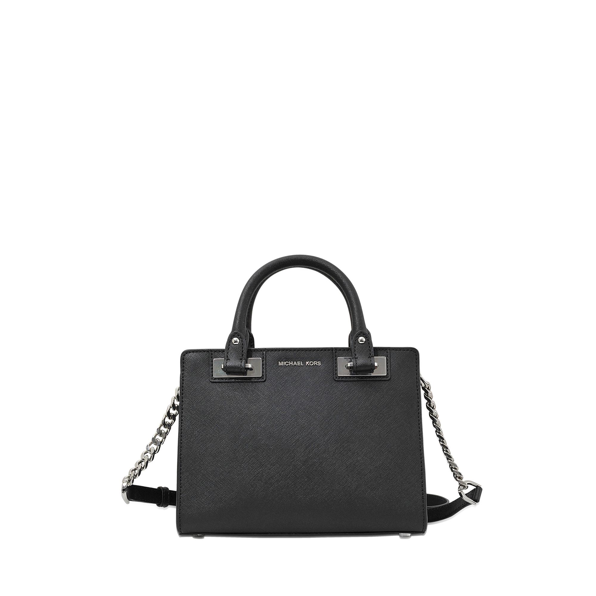 177a0c9eb8c0 ... inexpensive michael michael kors quinn small satchel in black lyst  d574f 76af7
