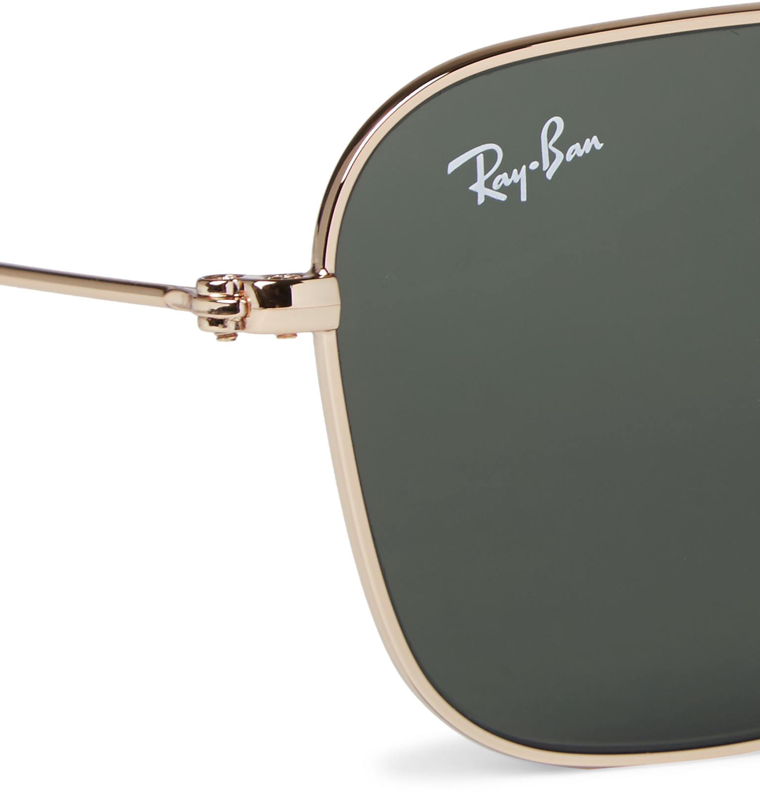 60af67041cd Lyst - Ray-ban Square-frame Gold-tone Sunglasses in Metallic for Men