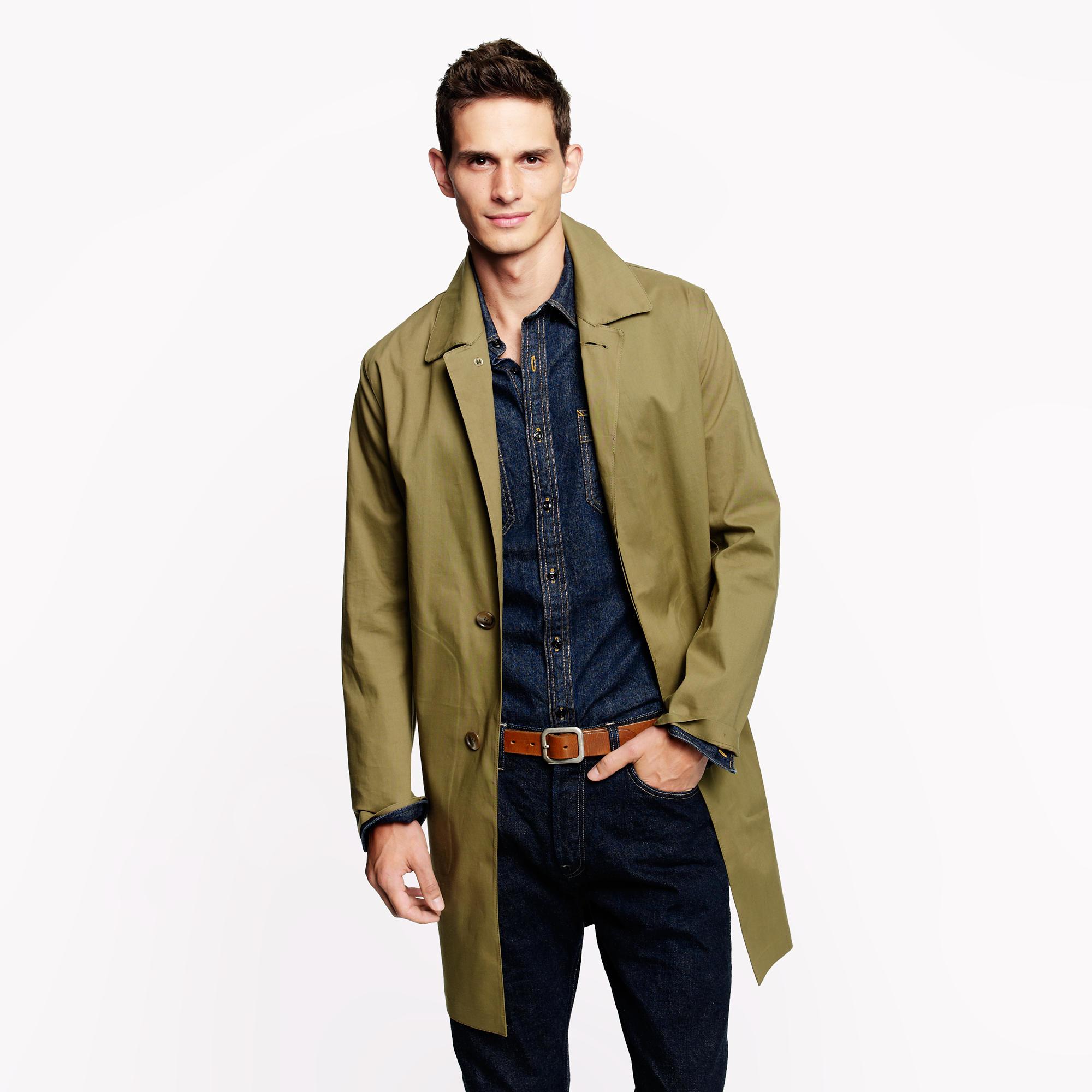 Mackintosh dunkeld coat in black for men lyst for J crew mens outfits