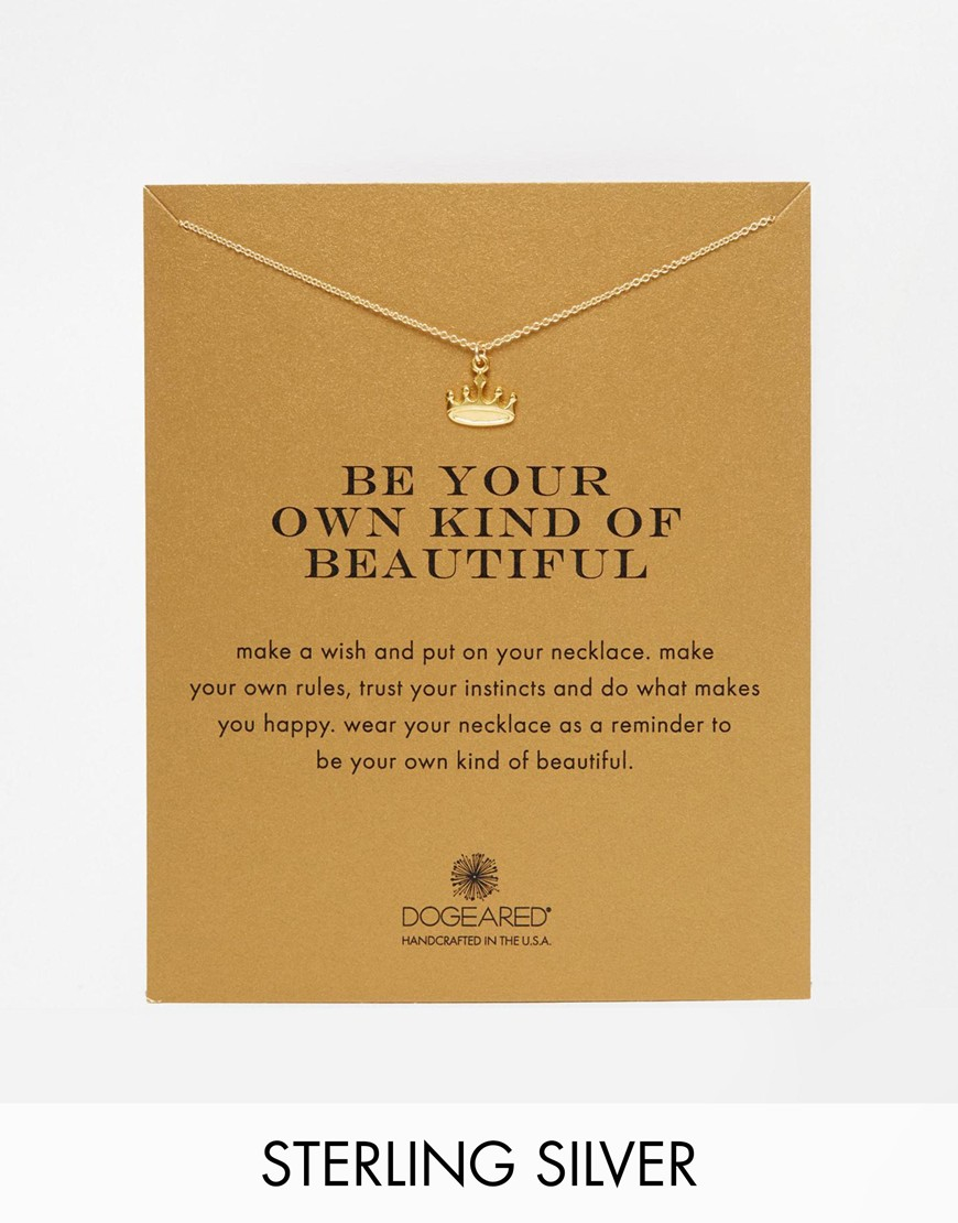 Dogeared Gold Plated Be Your Own Kind Of Beautiful ...