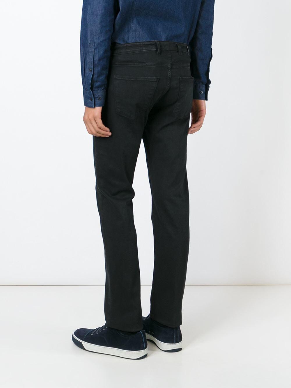 Pt05 Classic Straight Leg Jeans in Black for Men