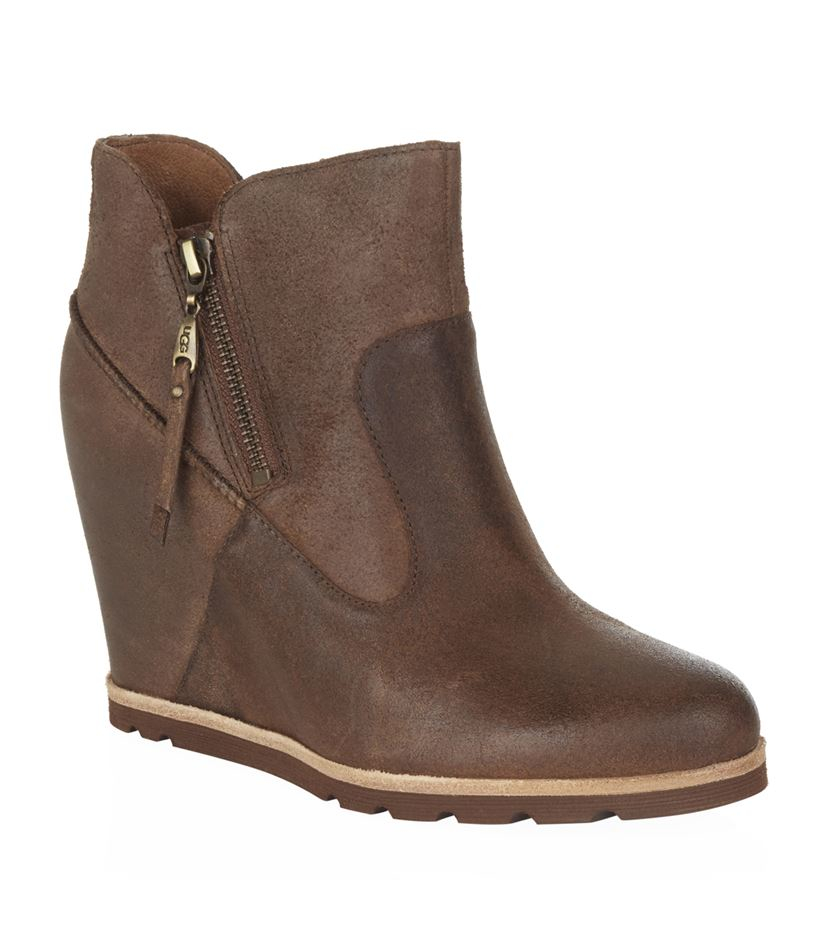 Ugg Myrna Wedge Boot In Brown Lyst