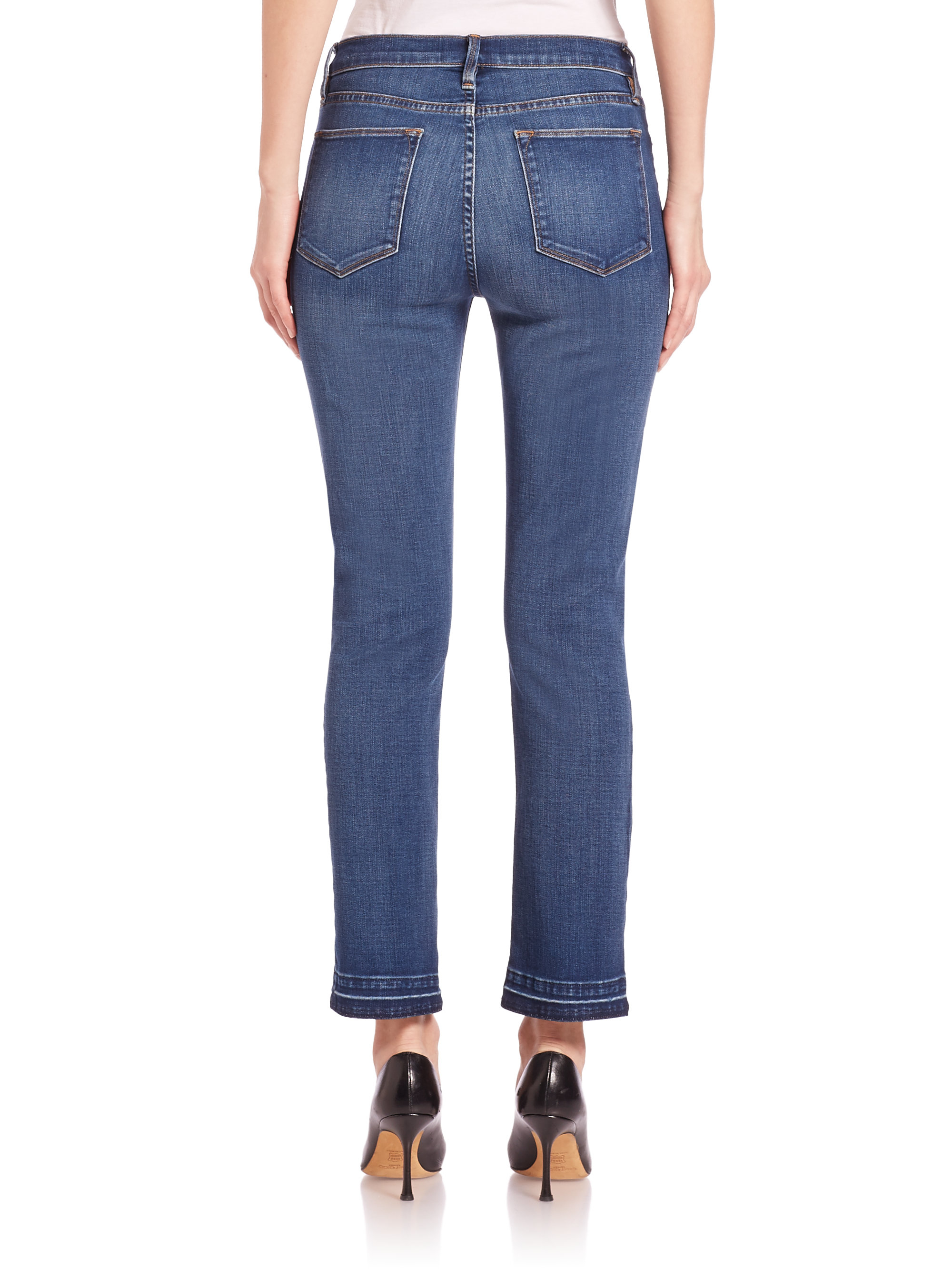Frame Le High Straight Jeans In Blue Lyst