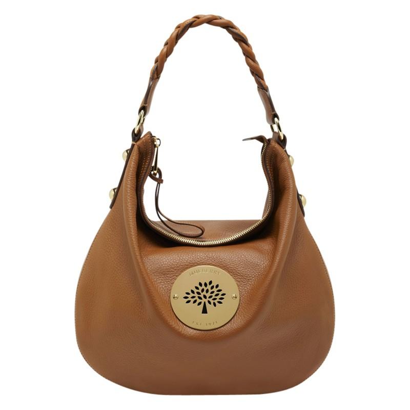 Mulberry daria laukku : Mulberry daria leather medium hobo bag in brown oak lyst