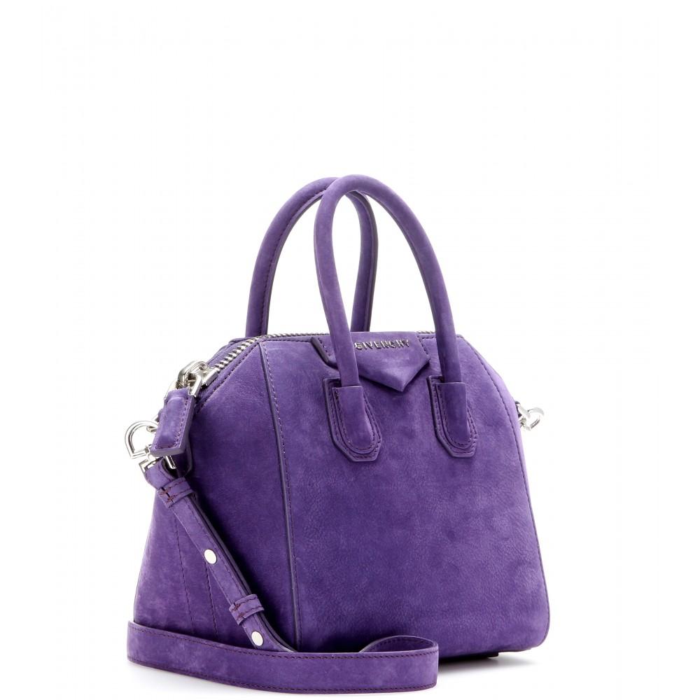 8dc4630eca Lyst - Givenchy Antigona Mini Suede Tote in Purple