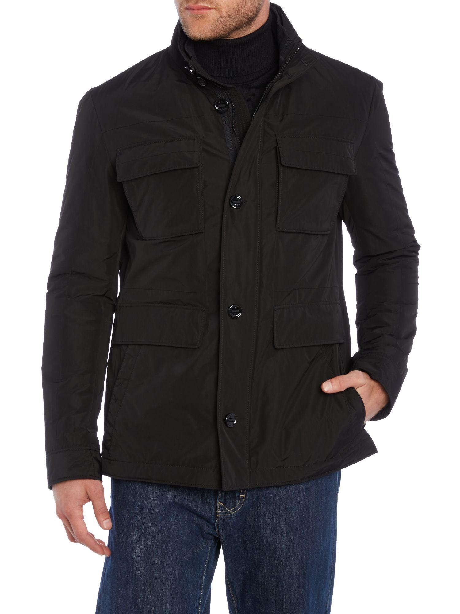 Boss Colasso Casual Showerproof Full Zip Field Jacket In