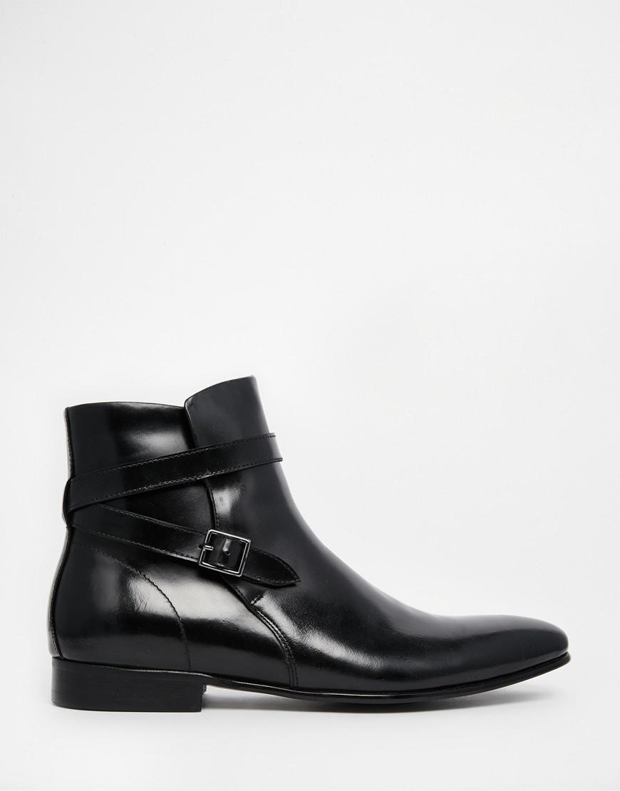 aldo pagliana leather jodhpur boots in black for lyst