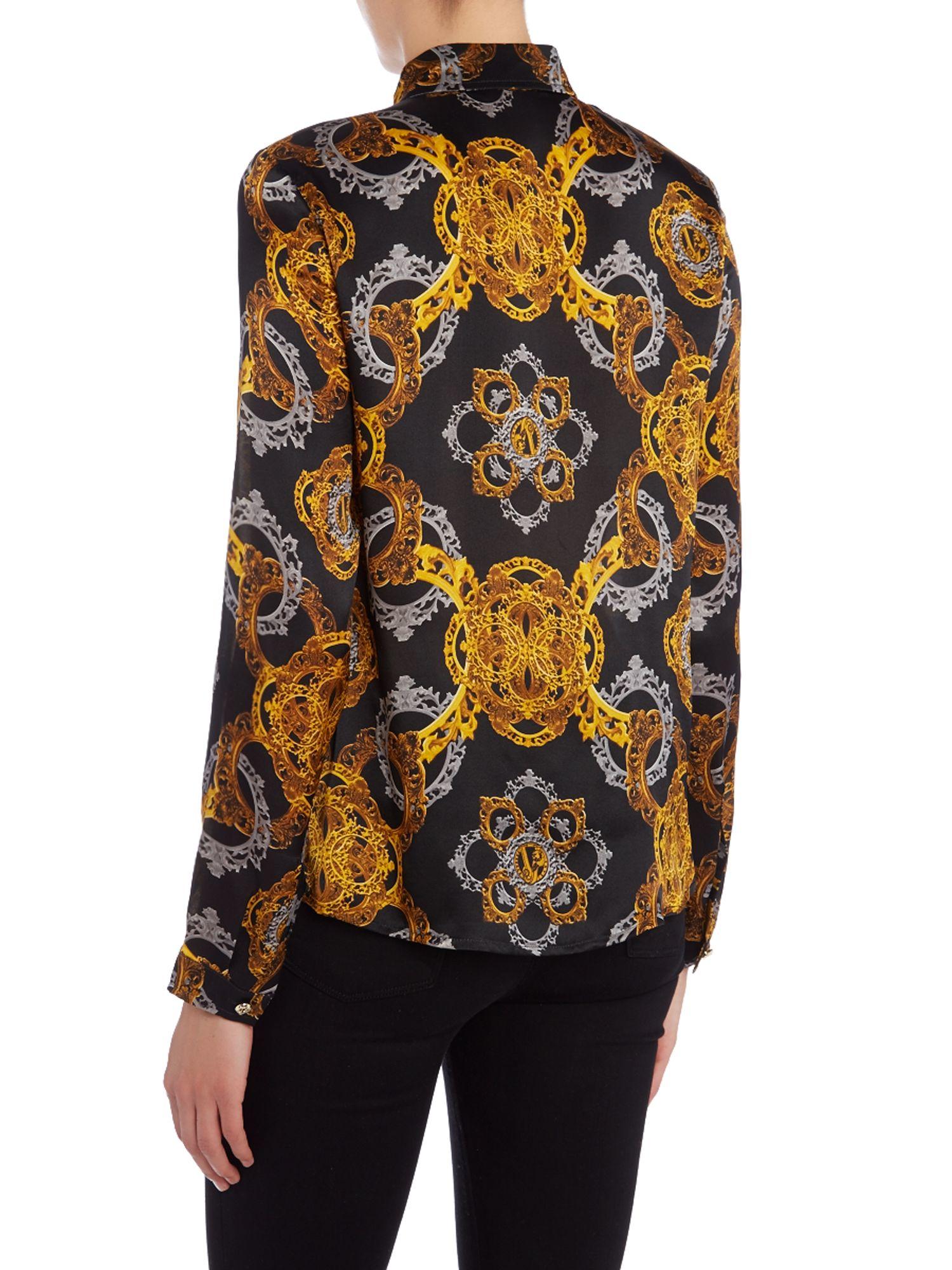 Versace Jeans Long Sleeve Print Shirt Lyst