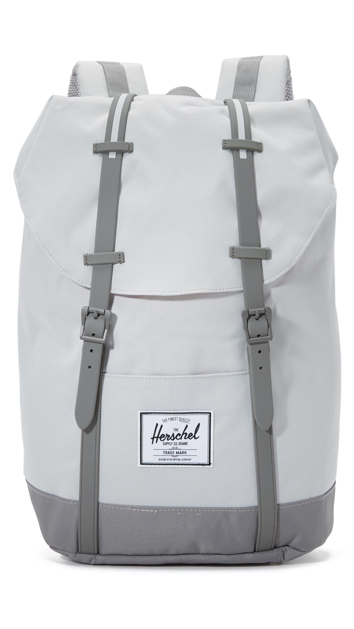 herschel supply co retreat backpack in gray for men lyst. Black Bedroom Furniture Sets. Home Design Ideas