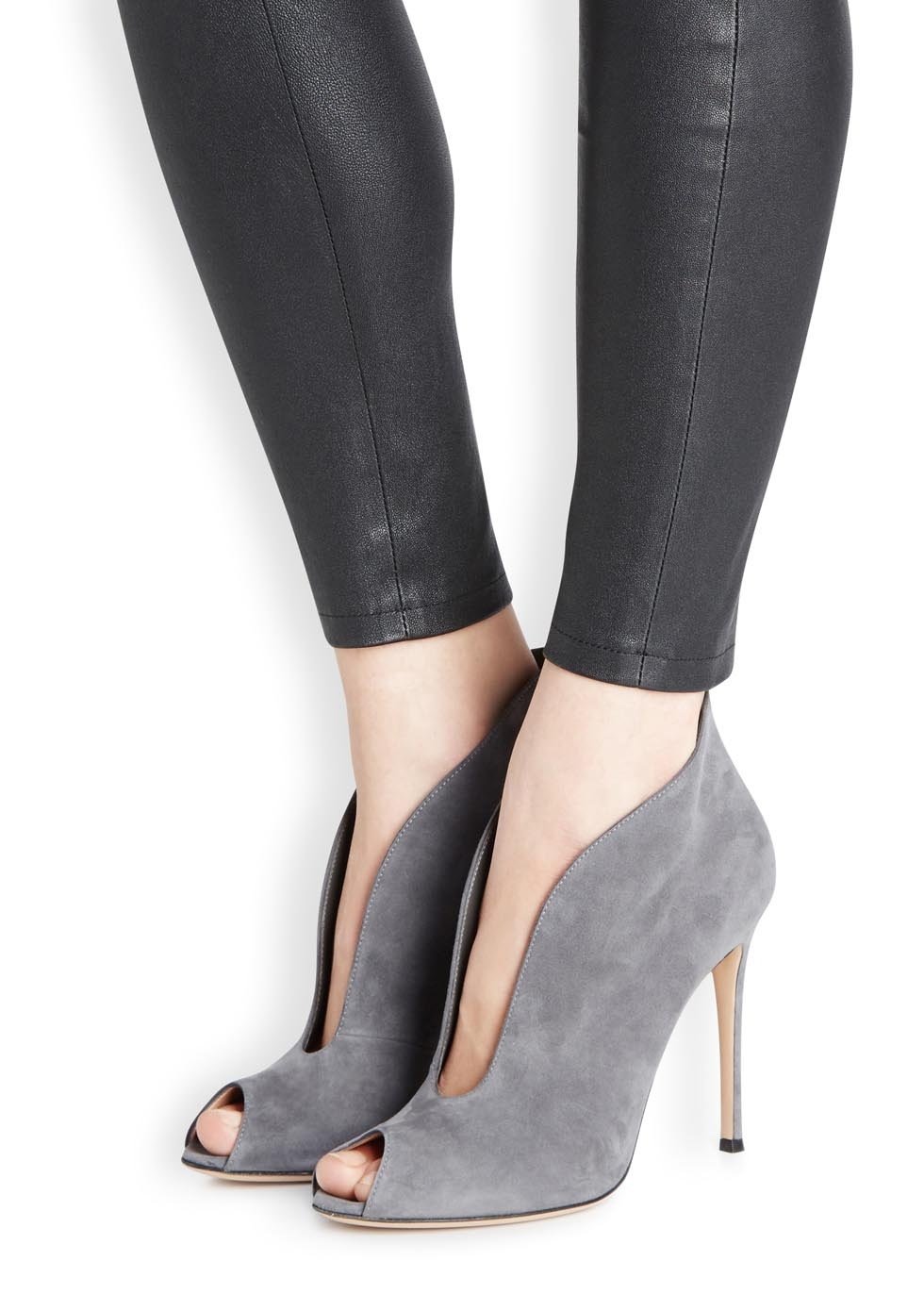 901fab87e30 Gianvito Rossi Gray Vamp Grey Suede Ankle Boots