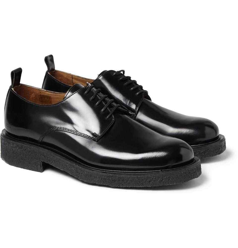 Men S Black Leather Soled Shoes